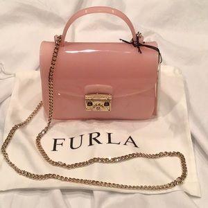 Furla Pink Jelly Crossbody Bag